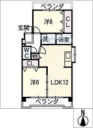 ハイツ長野P棟[3階]の間取り