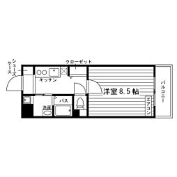愛知県名古屋市天白区天白町八事の賃貸マンションの間取り