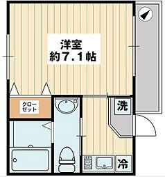 千葉県浦安市富岡4丁目の賃貸アパートの間取り