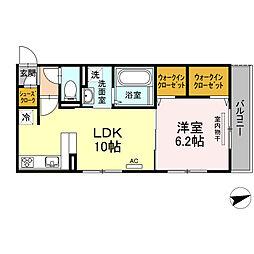 (仮)D-room 住吉 II[2階]の間取り