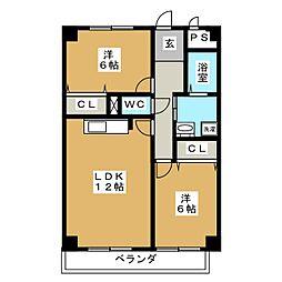 M&Iアムール[2階]の間取り
