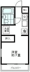 神奈川県秦野市鶴巻南5丁目の賃貸アパートの間取り