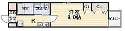 エルベコート太子橋駅前[406号室]の間取り