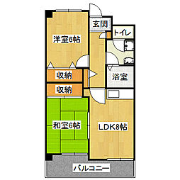 サンサーラ21[4階]の間取り