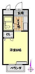 プリメール山田[2階]の間取り