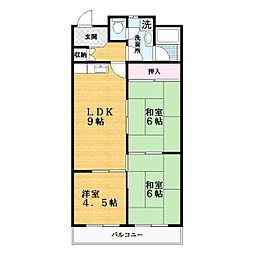 STマンション[1階]の間取り