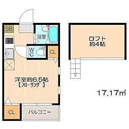 エレガンテ大濠西II[2階]の間取り