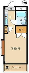 シティハイム西東京[207号室]の間取り