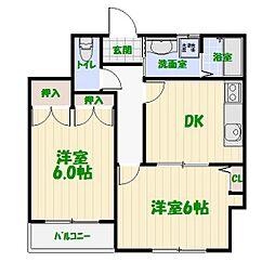 ムーンハイツマリコ10[2階]の間取り