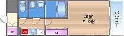 エスプレイス大阪城サウスコンフォート 6階1Kの間取り
