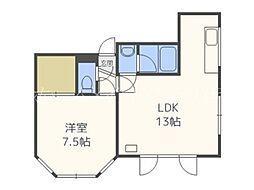 ローヤルハイツN8[3階]の間取り