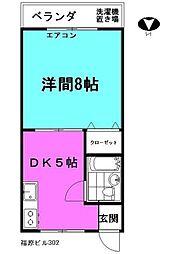 東京都足立区千住東2丁目の賃貸マンションの間取り