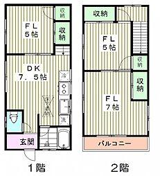 [一戸建] 東京都中野区上高田5丁目 の賃貸【/】の間取り