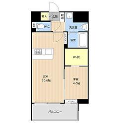 仮称)野間1丁目_101マンション 6階1LDKの間取り