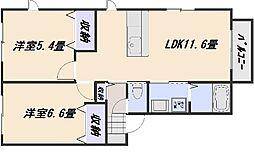 エクレールC[2階]の間取り