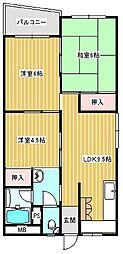 住之江コーポ1号館[413号室]の間取り