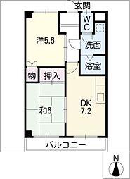 鈴の木ハイツA棟[2階]の間取り