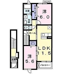 スウィートガーデンC[2階]の間取り
