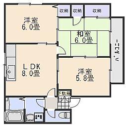 セジュール川崎[2階]の間取り