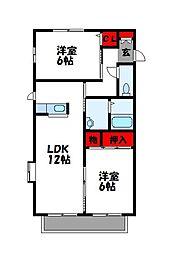 サンライズUEKI A棟[2階]の間取り
