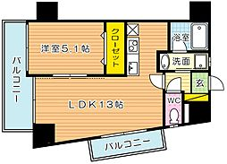 THE SQUARE Suite Residence(ザ・ス[301号室]の間取り