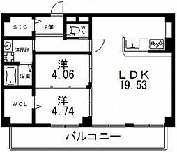セレッソ寺田町[201号室号室]の間取り