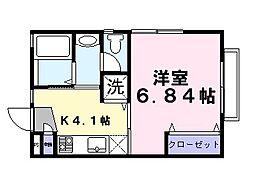 埼玉県草加市小山1丁目の賃貸アパートの間取り
