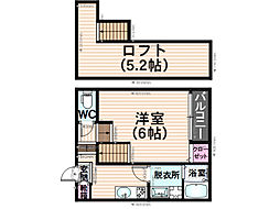 福岡県福岡市南区井尻3丁目の賃貸アパートの間取り