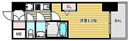 エステムコートディアシティウエスト[4階]の間取り