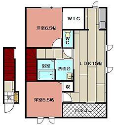 プレミール21 F棟[202号室]の間取り