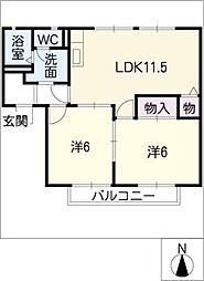モントレーM[2階]の間取り