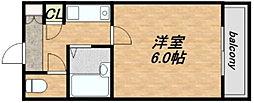淡路ハイツ[702号室]の間取り