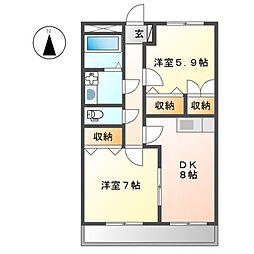 プロニティN[2階]の間取り