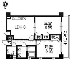 ライオンズマンション京都河原町第3[11階]の間取り