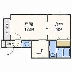 WING澄川[3階]の間取り
