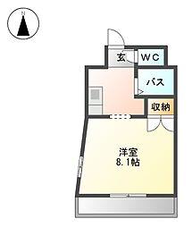 メルベーユⅠ[4階]の間取り
