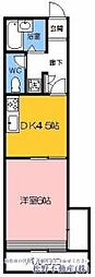 高松琴平電気鉄道長尾線 池戸駅 徒歩9分の賃貸マンション 2階1DKの間取り