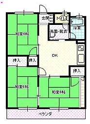 高木第2ビル[203号室]の間取り