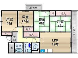 サニーコート[3階]の間取り