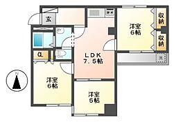 第7スカイパレス[5階]の間取り
