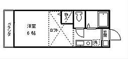 パルファンベールII[1階]の間取り