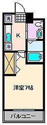 第6コーポサンフラワー[1階]の間取り