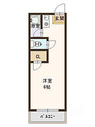 コーポタカハシA[4階]の間取り