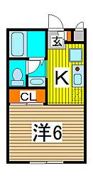 エステートピア武蔵浦和[1階]の間取り