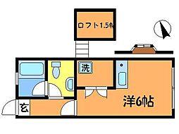 東京都三鷹市北野4丁目の賃貸アパートの間取り