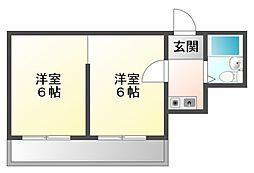 メゾン甲子園[2階]の間取り