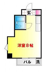 東京都中野区本町6丁目の賃貸マンションの間取り
