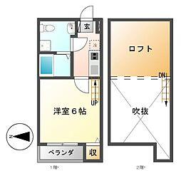 Loft8名駅[1階]の間取り