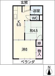 西畑マンション[2階]の間取り