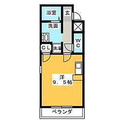 PJ石薬師 5階ワンルームの間取り